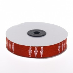 Christmas Twill Ribbon - Toy Soldiers Red