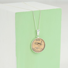 Farthing 60th 1956 birthday coin necklace