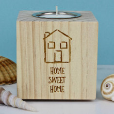 Home Sweet Home Themed Candle Holder