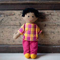 Hand-woven large William doll