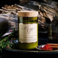Cedar & Saffron Wine Bottle Candle
