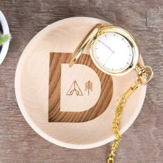 Adventure Alphabet Personalised Wooden Trinket Dish