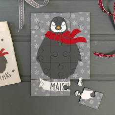 Personalised Christmas Animal Jigsaw In Pouch