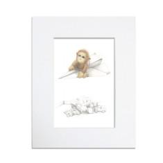 Monkey mischief art print