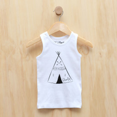 Boys' personalised teepee singlet
