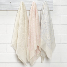 Heirloom pure wool embroidered baby wrap (3 colours available)