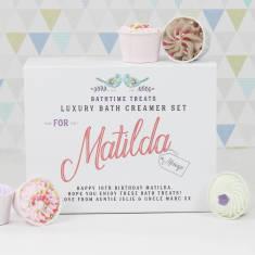 Personalised bath creamer gift set