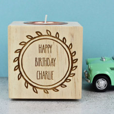 Personalised Birthday Candle Holder