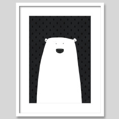 Scandi Polar Bear Nursery Art Print