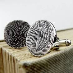 Inked Fingerprint Cufflinks