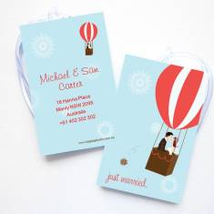 Personalised luggage tags in fly with me (set of 4)