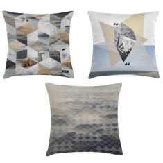 Saltwater geometric cushion collection (set of 3)