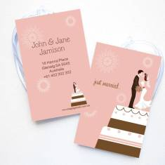 Personalised luggage tags in wedding cake (set of 4)