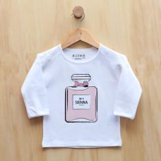 Personalised eau de parfum long sleeve t-shirt