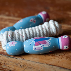 Butterfly skipping rope