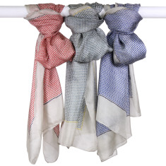 Abby Pure Silk Spot Scarf (various colours)