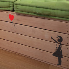 Small Banksy Balloon Girl wall sticker