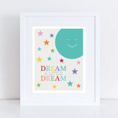 Dream a little dream moon art print