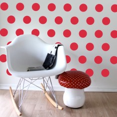 Red dots wall decal