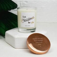 Let Christmas Be Gin Scented Christmas Candle