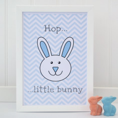 Childrens Bunny Chevron Print