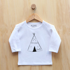 Boys' personalised teepee long sleeve t-shirt