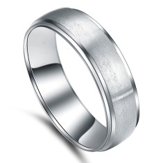 Custom Brushed Titanium Ring