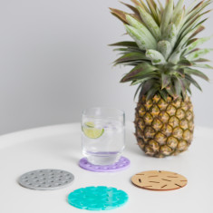 Confetti coasters in tropicana design (set of 4)