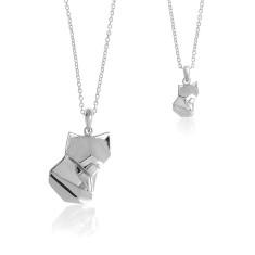 Fox origami necklace