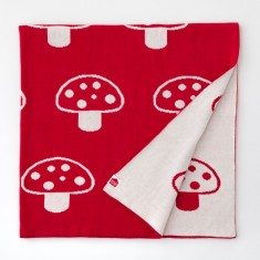 Mushroom organic cotton blanket