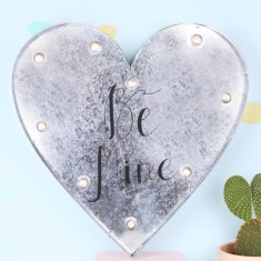 Be Mine Industrial Heart With LED Lights
