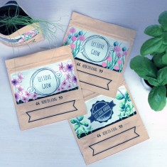 Let Love Grow Seed Pack Wedding Favours