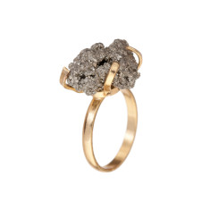 Pyrite Cubic Cluster Ring
