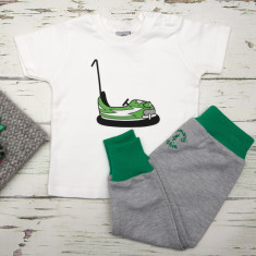 Babies t shirt & pants dodgem car set