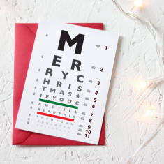 More egg nog eye chart Christmas card (set of 3/5)