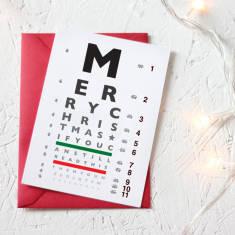 More egg nog eye chart Christmas card (set of 3/5)