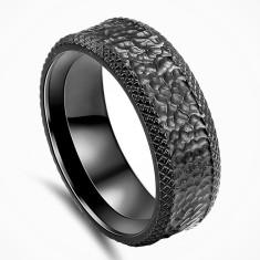 Personalised Matrix Black Zirconium Ring