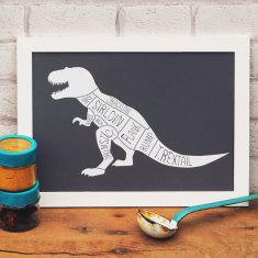 Tyrannosaurus butcher's meat cuts print