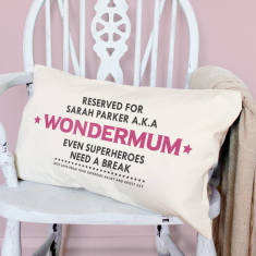 Personalised Reserved For Wondermum Cushion