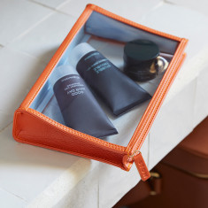 See-View Leather Onboard Essentials Pouch for Him