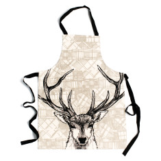 Tartan stag apron