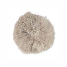 Tibetan Stone Lamb Fur Cushion