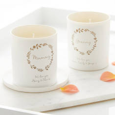 Personalised Glow Through 'We Love You' Candle