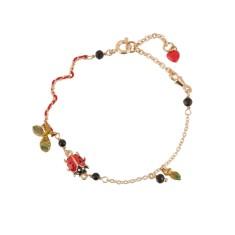 Ladybird leaf bead bracelet