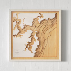 Wooden 3D Contour Map of Pittwater