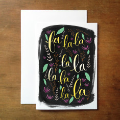 Falala christmas card (various colours)