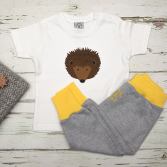 Babies t shirt & pants hedgehog set