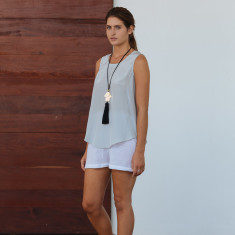 Sol sleeveless silk top