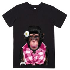 Female Monkey kid's tee