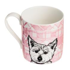 Tartan westie mug